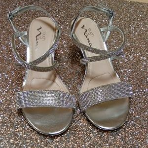 Touch Of Nina silver crystal Strappy shoes